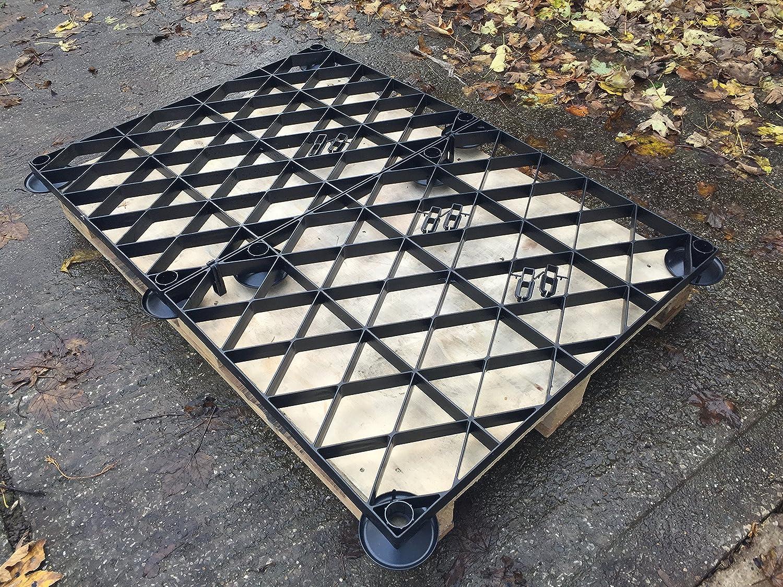 Gewächshaus Boden erhöhten Grid Kit 12x 8oder 3,66x 2,55m = Full Eco Kit Kunststoff ECO Pflastersteine Boden Raster &, Füße