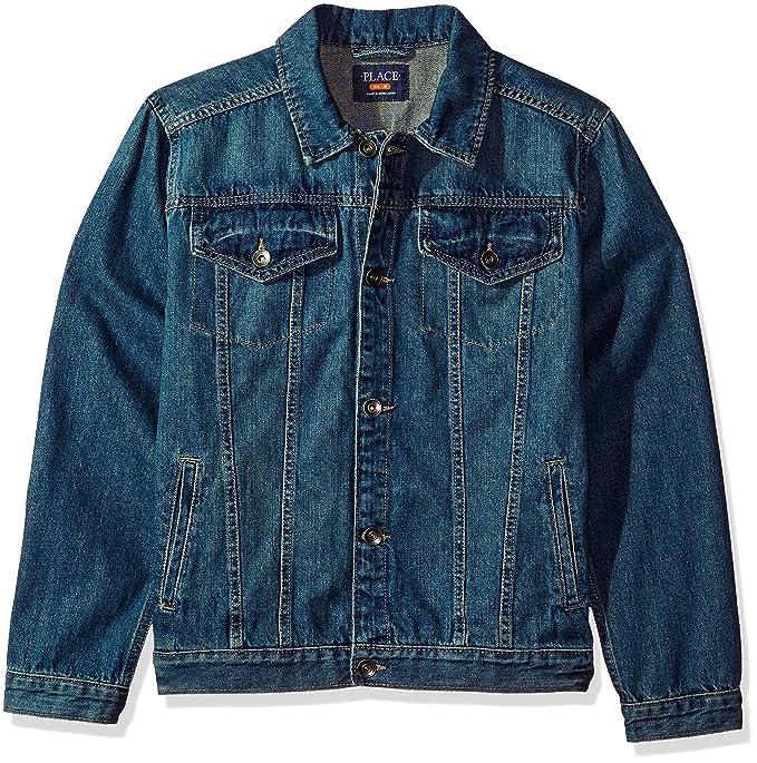 The Childrens Place Boys Basic Denim Jacket