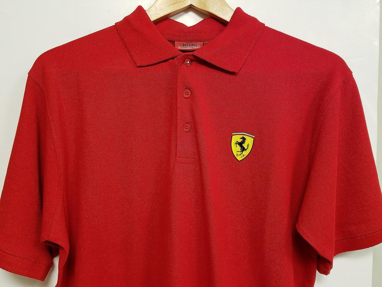 Polo Scuderia Ferrari Oficial Rojo Talla M: Amazon.es: Deportes y ...