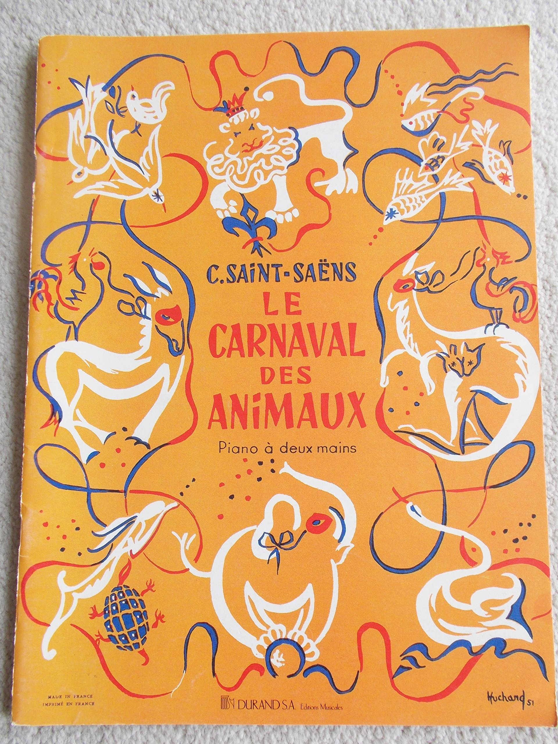 LE CARNAVAL DES ANIMAUX (CARNIVAL OF THE ANIMALS) Piano Solo