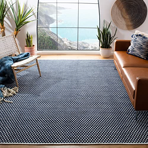 Safavieh Boston Collection BOS685D Handmade Navy Cotton Area Rug 4 x 6