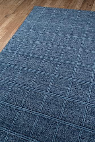 Momeni Rugs Gramercy Collection, 100 Wool Hand Loomed Contemporary Area Rug, 5 x 8 , Denim