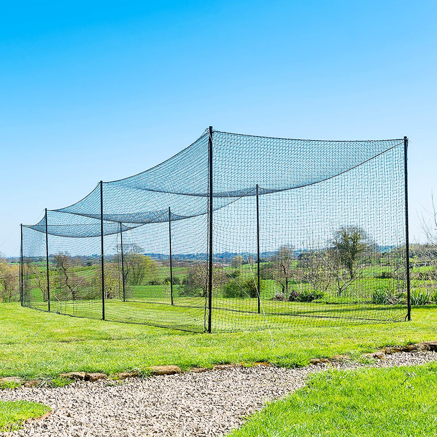Fortress Ultimate Baseball Batting Cage [20', 35', 55', 70'] | #42 Grade Net with Steel Poles
