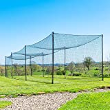 Fortress Ultimate Baseball Batting Cage [20', 35', 55', 70']   #42 Grade Net with Steel Poles