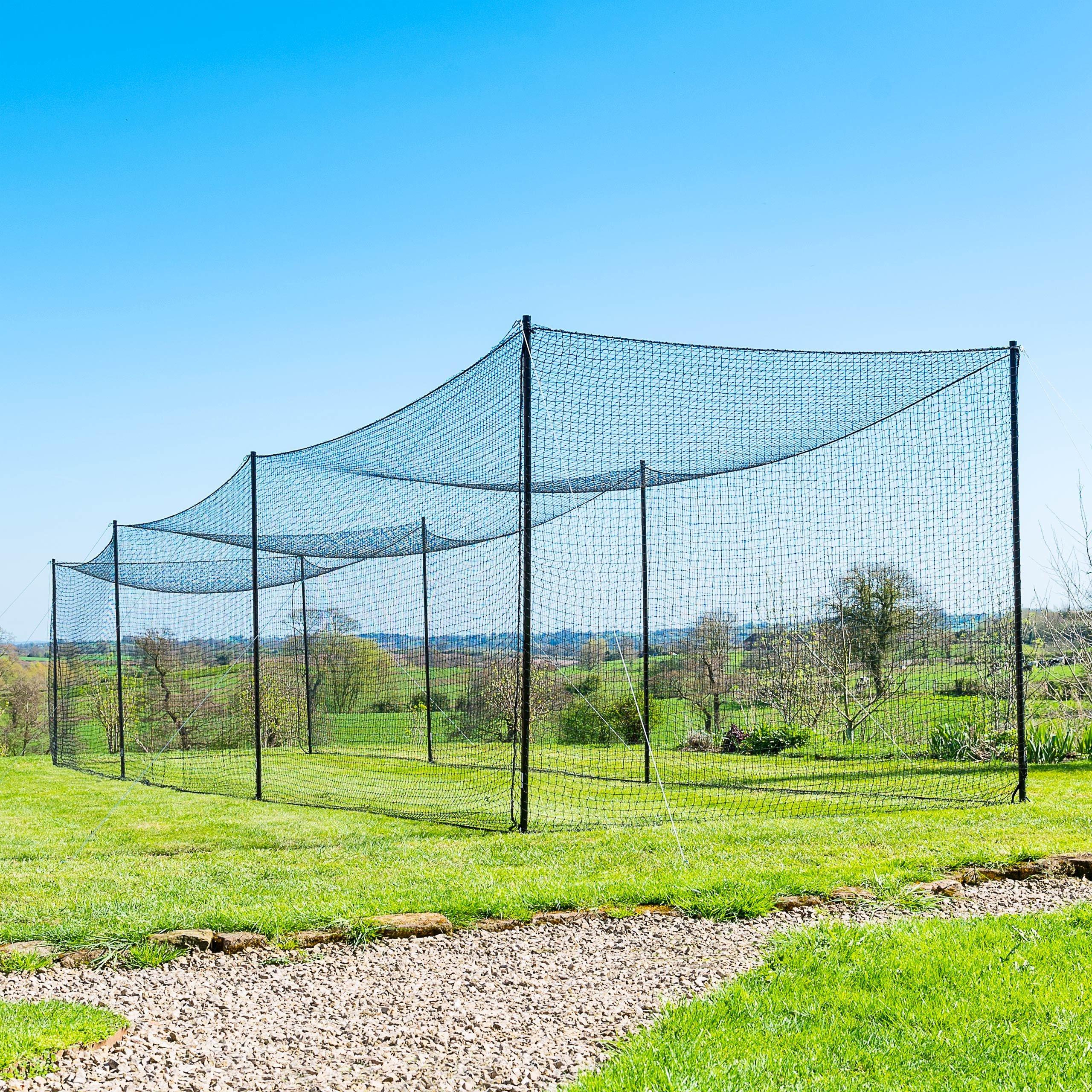 Net World Sports Ultimate Baseball Batting Cage [Net & Poles Package] 42 Heavy Duty Net with Steel Uprights (20', 35', 55', 70') (35' Batting Cage Package) by Net World Sports