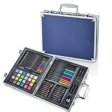 Artworx 70 Piece Art Studio With Aluminium Case - Blue