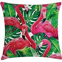 Orange Venue Flamingo Yastık Kırlent Kılıfı, Flamingo Cenneti, 45 X 45 cm