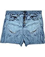 Fungarees Mens Boxer Shorts Faux Denim Blue Jeans Print Sleepwear