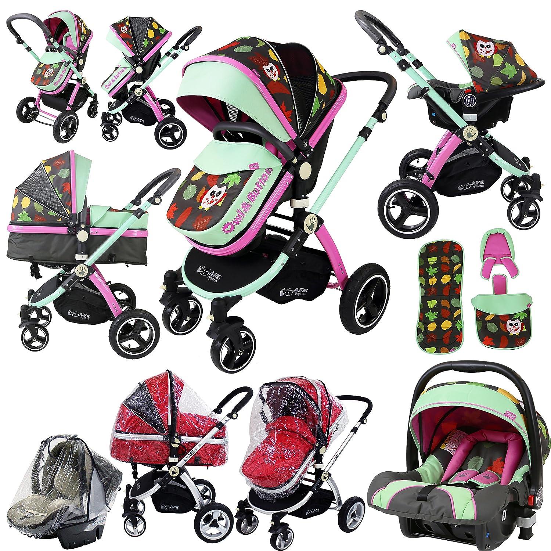 Sistema i-Safe - Owl & Button Trio - Cochecito de bebé con sistema ...