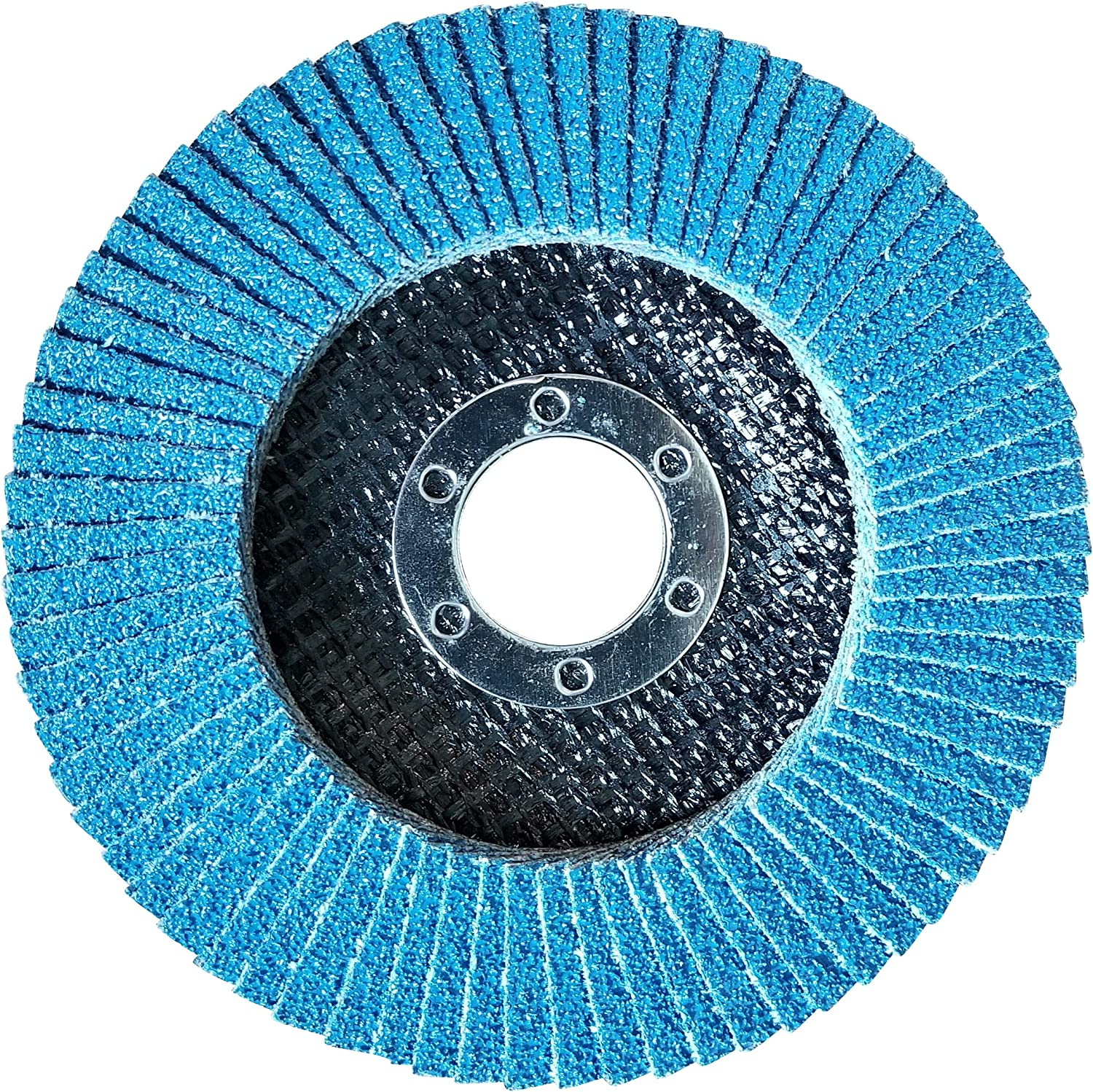 50 Pack Flap Discs 40 Grit 4.5 x 7//8 Sanding Wheels