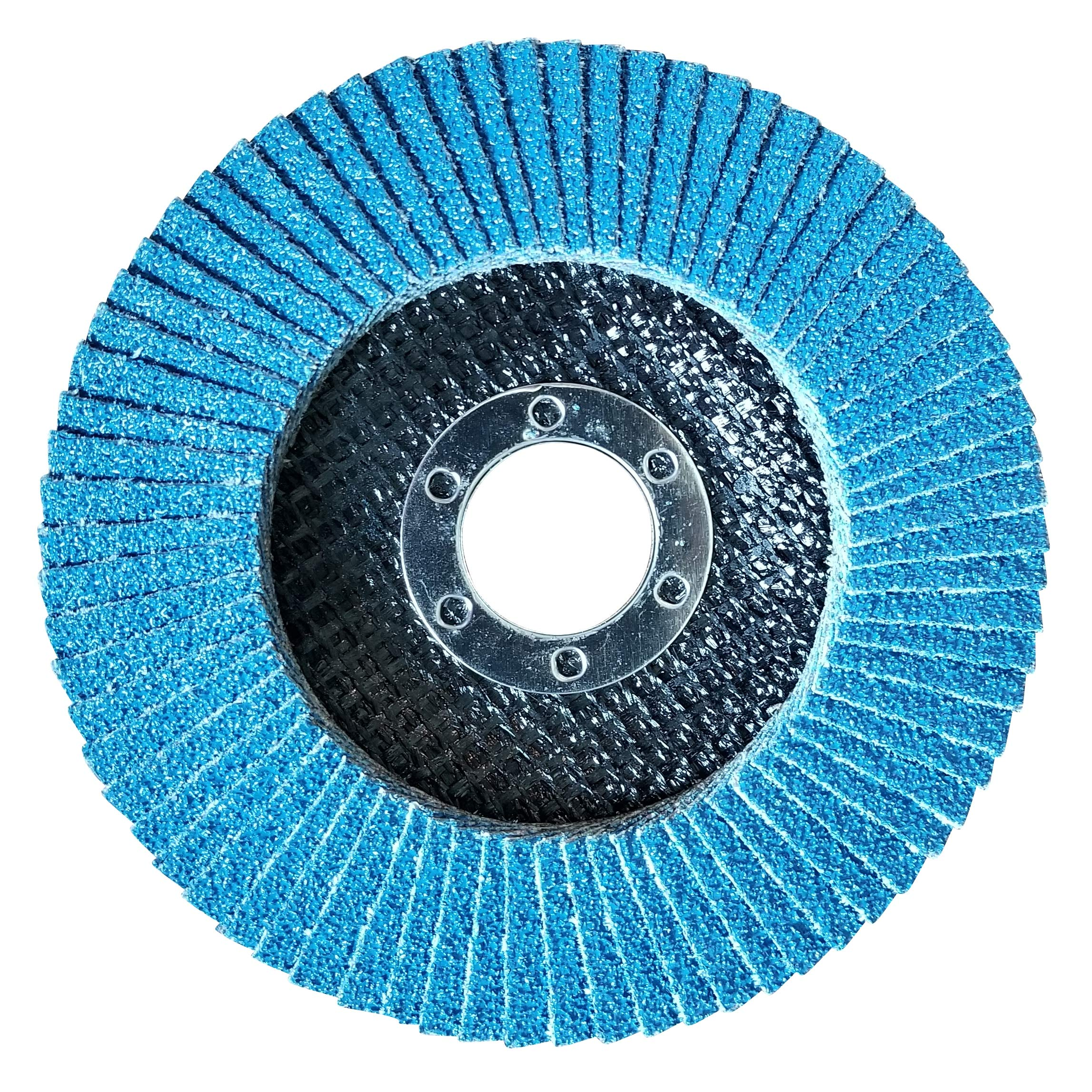 100 Pack Flap Discs 40 Grit 4.5'' x 7/8'' Sanding Wheels by Lincoln Abrasives (Image #3)