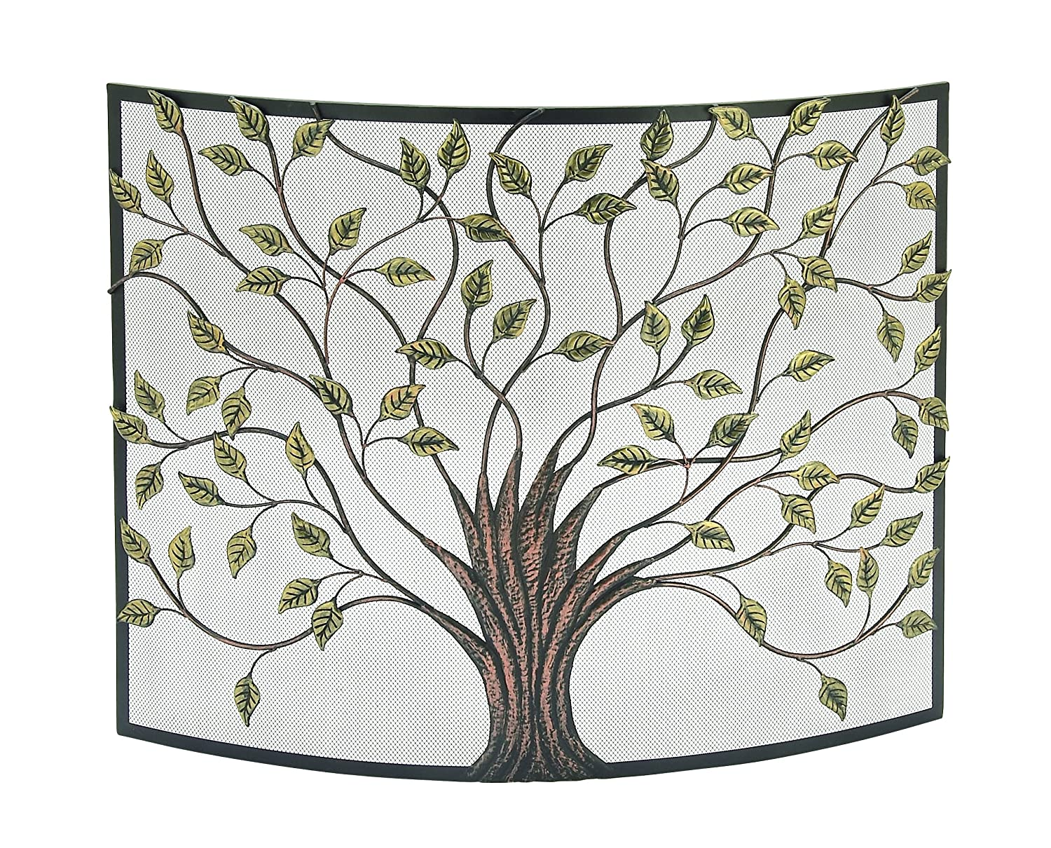 Deco 79 44543 Nature-Inspired Colored Iron Fire Screen, 33