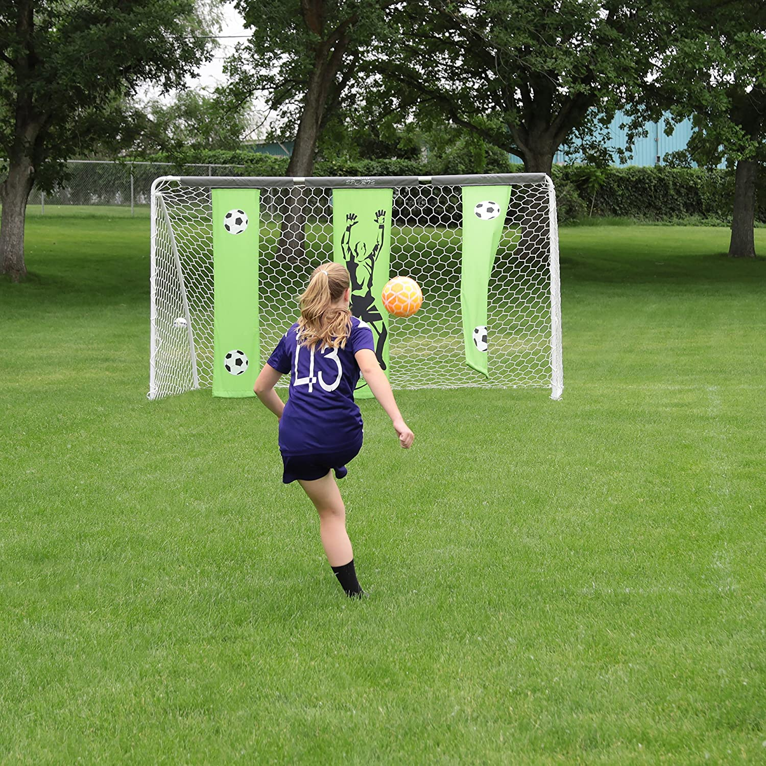 Skywalker Sports Soccer Goal with Practice Banners