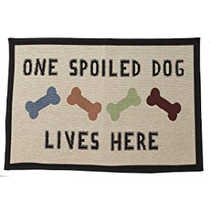 "PetRageous One Spoiled Dog Tapestry Mat Feeder, Large/28"" x 18"""