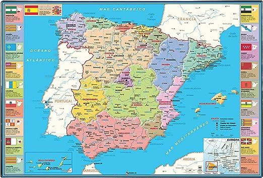 Viquel 944453 - Vade Mapa de España: Amazon.es: Oficina y papelería