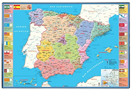 Viquel 944453 - Vade Mapa de España: Amazon.es: Oficina y ...