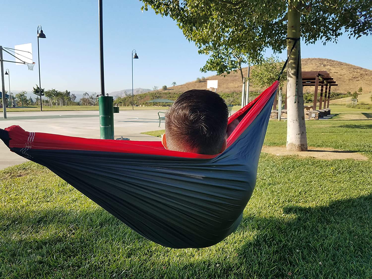 Elementa World Lightweight Double Camping Hammock – Aria 2 Hammock Perfect for Camping, Backpacking, Beach, Park, Balcony, Backyard, and More Tree Straps Included