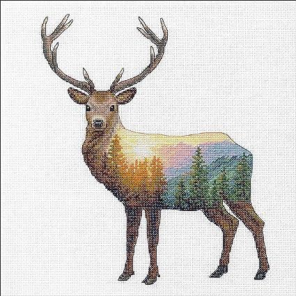 Deer Scene SIMPLICITY CREATIVE CORP Cross Stitch 14 Count