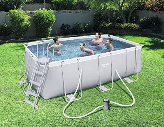 BESTWAY 8321295 PISCINA RECTANG C/HIDROBOM 412x201x122cm: Amazon.es: Jardín