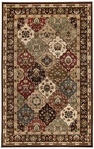 Superior Elegant Palmyra Collection Area Rug, 10mm Pile Height with Jute Backing, Gorgeous Traditional Persian Rug Design, Anti-Static, Water-Repellent Rugs – 5 x 8 Rug