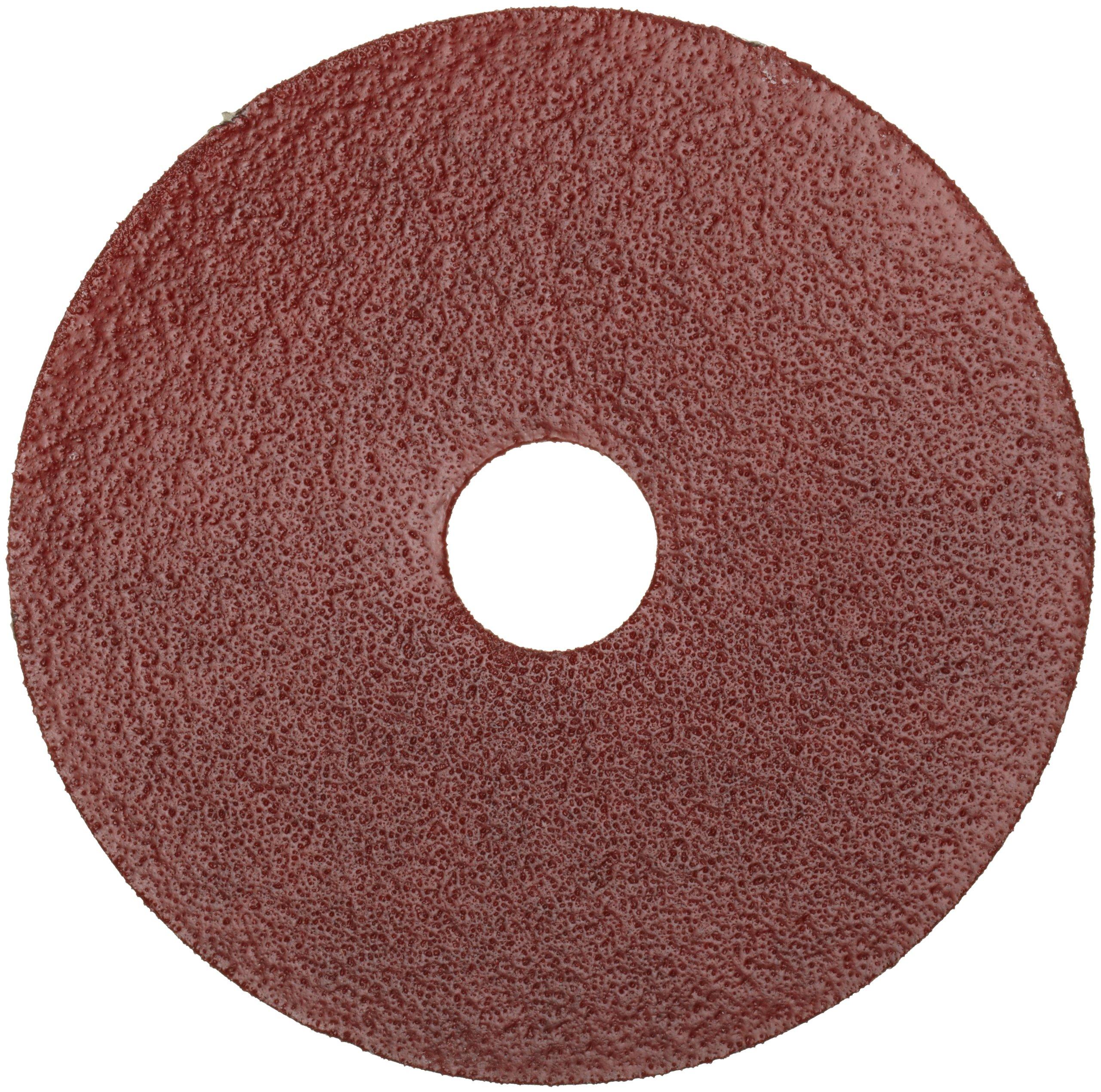 Norton Gemini Metalite F220 Abrasive Disc, Fiber Backing, Aluminum Oxide, 7/8'' Arbor, 7'' Diameter, Grit 24 (Pack of 25)