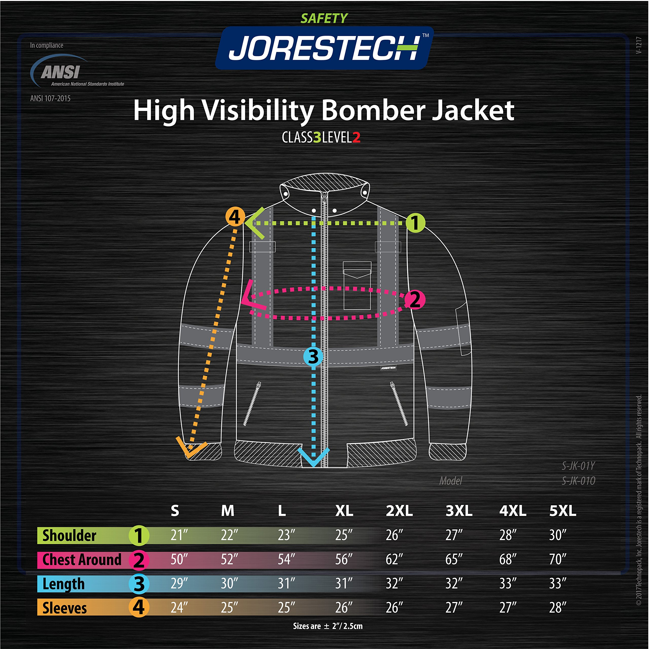 JORESTECH High Visibility Waterproof Bomber Jacket (3X-Large, Orange) by JORESTECH  (Image #8)