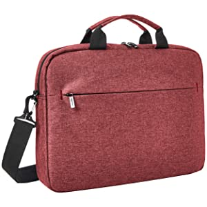 "AmazonBasics Urban Laptop and Tablet Case, 15"", Maroon"