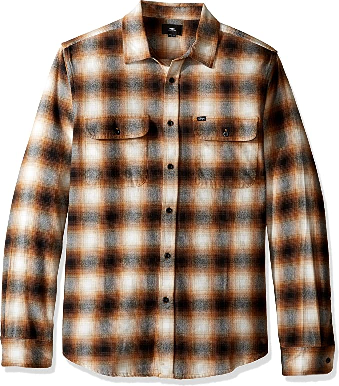 Obey Mens Norris Short Sleeve Button Up Woven
