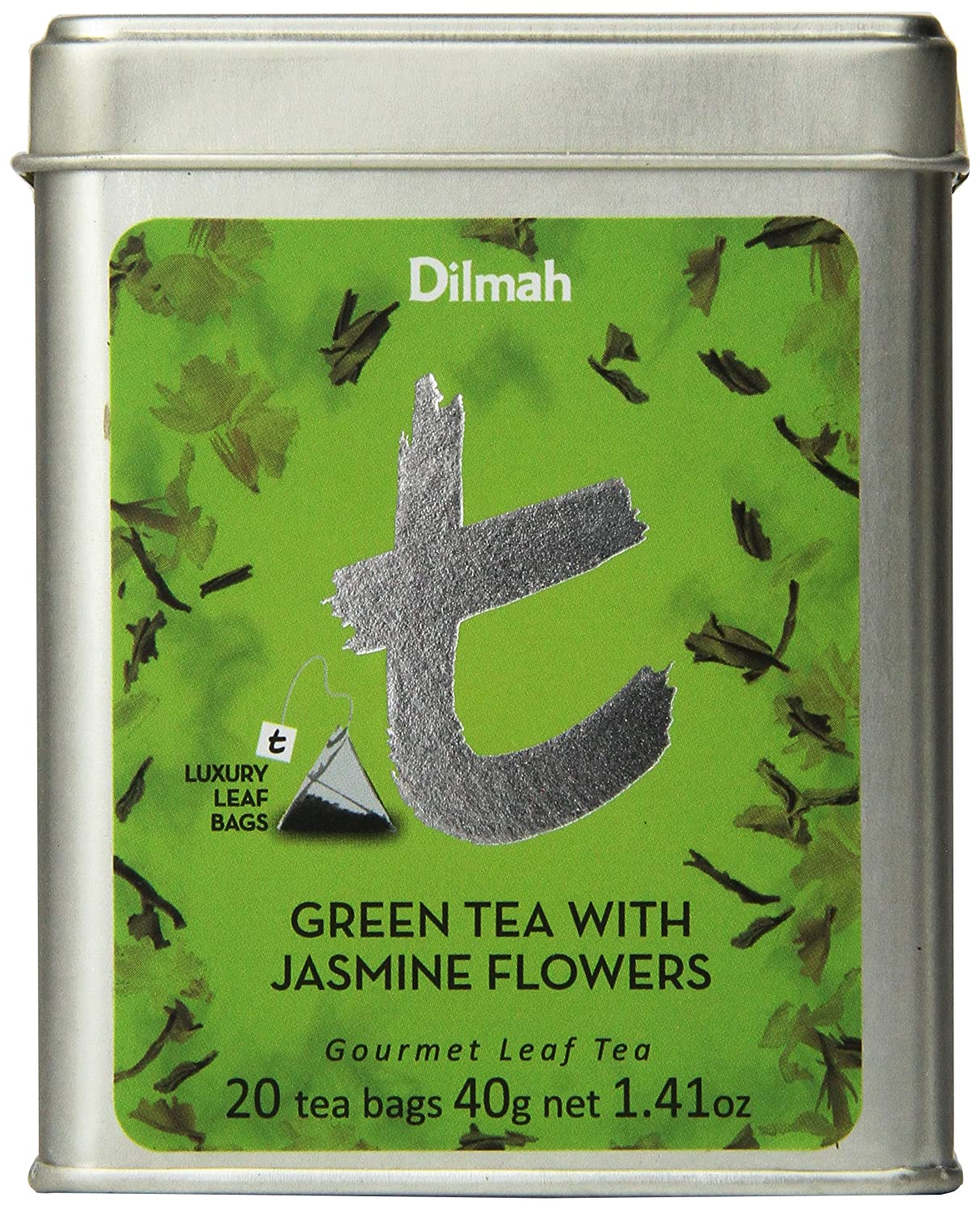 Amazon dilmah tea green tea with jasmine flowers 20 count amazon dilmah tea green tea with jasmine flowers 20 count luxury leaf teabags pack of 2 grocery tea sampler grocery gourmet food izmirmasajfo Images