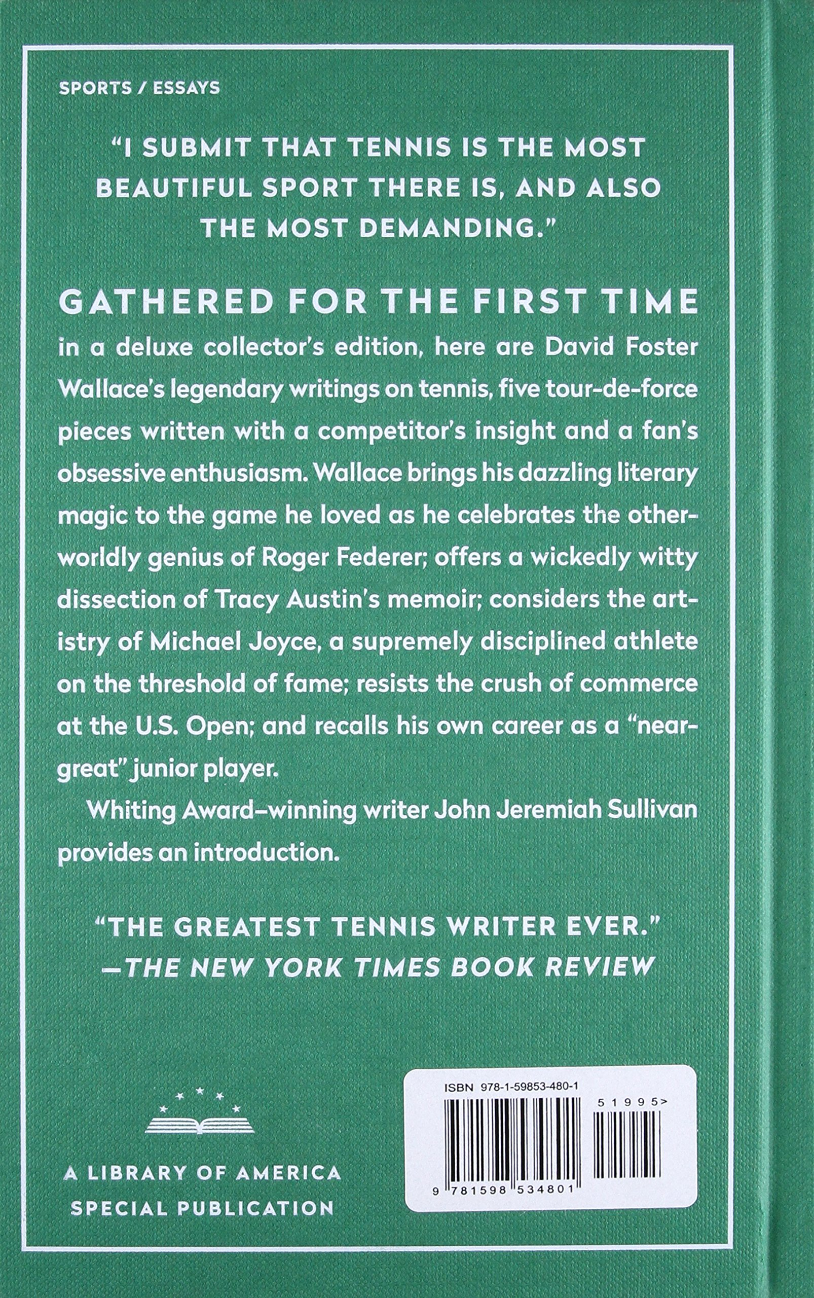 String theory david foster wallace on tennis a library of america string theory david foster wallace on tennis a library of america special publication amazon david foster wallace 9781598534801 books fandeluxe Image collections