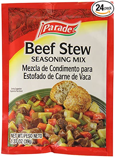 Parade Beef Stew Mix, 1 Ounce (Pack of 24)