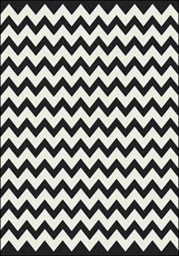 Milliken Black White Collection Vibe, 7 8 x 10 9 , Techno Black