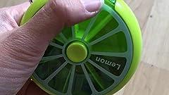 Amazon.com: Pastillero semanal 3 veces 7 compartimentos ...