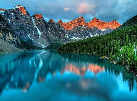 Amazon Com Adult Jigsaw Puzzle Moraine Lake Sunrise Banff