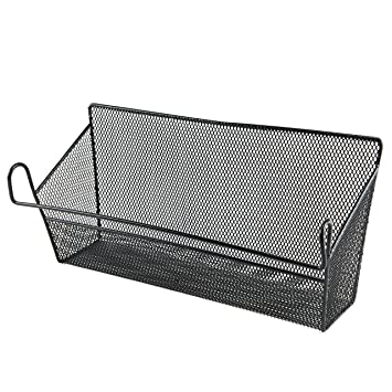 metal basket mail organizer letter holder hanging baskets black