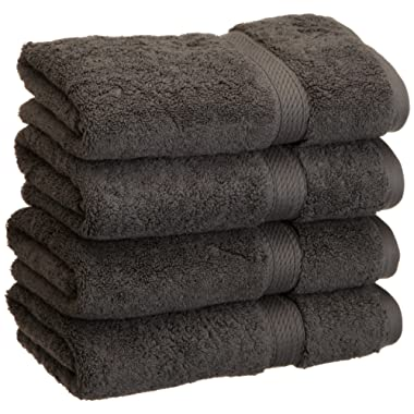Superior 900 GSM Luxury Bathroom Hand Towels, Made of 100% Premium Long-Staple Combed Cotton, Set of 4 Hotel & Spa Quality Hand Towels - Charcoal, 20  x 30  each