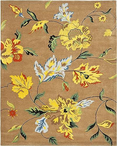 Safavieh Soho Collection Handmade Brown and Multi Premium Wool Area Rug 9'6″ x 13'6″