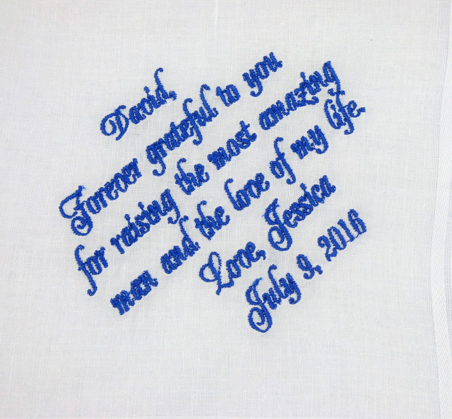 Father of the Groom Handkerchief, Father of the Groom Gift, Personalized Handkerchief, Custom Hankie