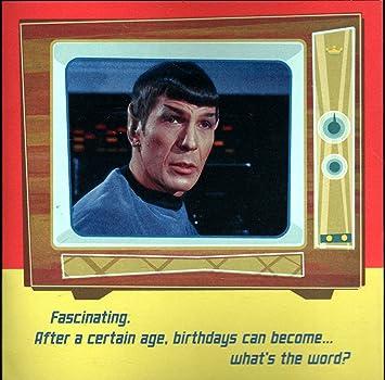 Amazon star trek talking hallmark birthday card with sound mr star trek talking hallmark birthday card with sound mr spock speaks bookmarktalkfo Image collections