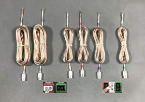 6 Home Theater Speaker Wires/Cables/Cords for Select Plasma TV, Old Sony, Old Samsung, Philips, LG, Mini HI-FI etc. 18 AWG Wire; Total 86ft; 6.2mm Connector (Plug); Please Read Warning!