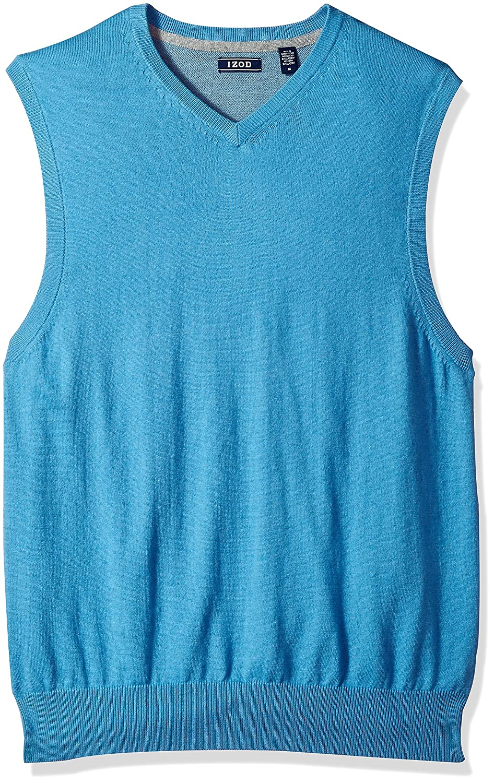 Izod Mens Fine Gauge Solid Sweater Vest IZOD Men' s Sportswear 45FS741