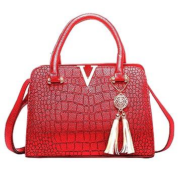 21c38e020e0e4 Mufly Damen Handtaschen Fashion Handtaschen für Frauen PU Leder Schulter  Taschen Messenger Tote Taschen Umhängetasche (