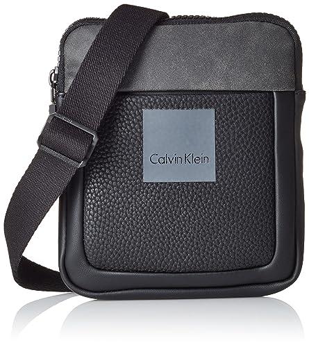 Calvin Klein Boris Mini - Cartera de mano para hombre Negro Noir (001) talla única: Amazon.es: Zapatos y complementos