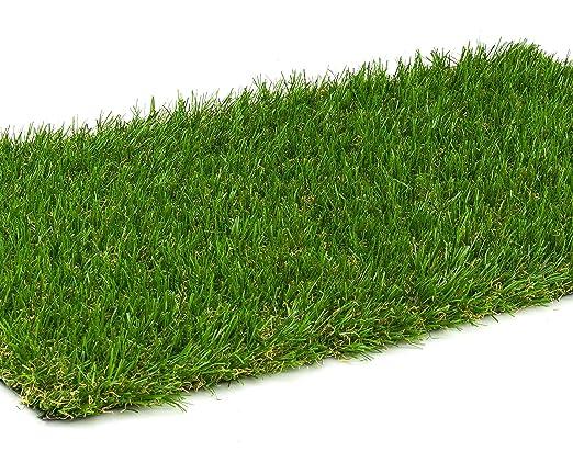2043 g//m/² Kunstrasen Rasenteppich Lime f/ür Garten Kunststoffrasen Rollrasen DIN 53387 UV-Garantie 10 Jahre Florh/öhe 25 mm Gewicht ca - 2,00 m x 4,50 m