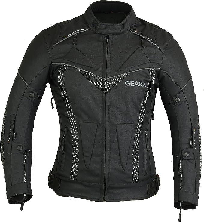 GearX Aircon Summer Motorcycle Jacket Waterproof Protection