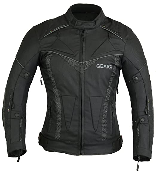 a91367d6bed Gearx Aircon Summer Motorcycle Jacket Waterproof Protection: Amazon ...