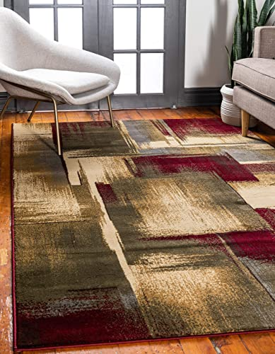 Unique Loom Barista Collection Modern Abstract Gradient Multi Area Rug 8' 0 x 10' 0