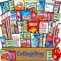 CollegeBox Care Package (45 Count) Snacks Food Cookies Granola Bar Chips Candy Ultimate Variety Gift Box Pack Assortment Basket Bundle Mix Bulk Sampler Treats College Students Office Staff Back School