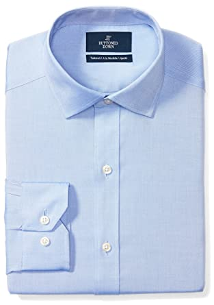 aa24ddee BUTTONED DOWN Men's Tailored Fit Spread-Collar Solid Non-Iron Dress Shirt  (No