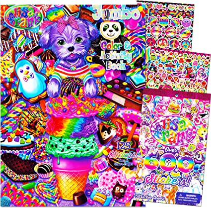 Amazon.com: Lisa Frank Coloring And Activity Book With Over 600 Lisa Frank  Stickers: Toys & Games